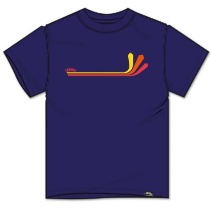 Cross Country Magazine paragliding T-shirt in French Navy with Atari design