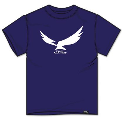 Cross Country Magazine Women's paragliding T-shirt in navy with eagle design