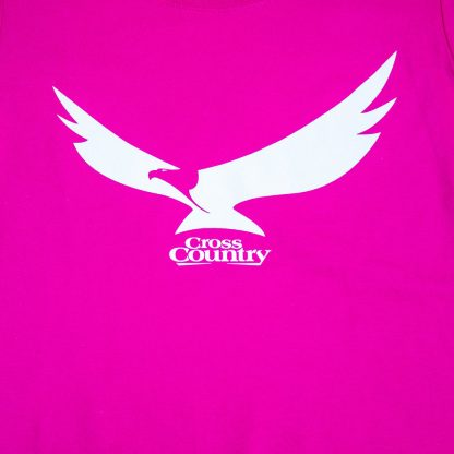 Women's Cross Country Eagle T-shirt in Fushcia
