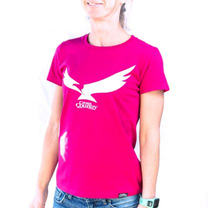 Cross Country Magazine Women's T-Shirt in Fuschia