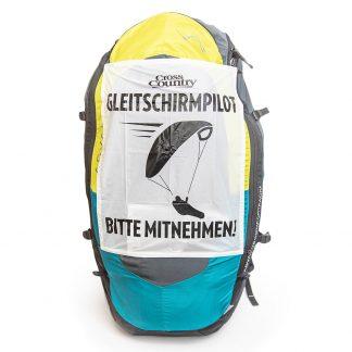 Autostopp-Schild für Streckenpiloten (Deutsch)