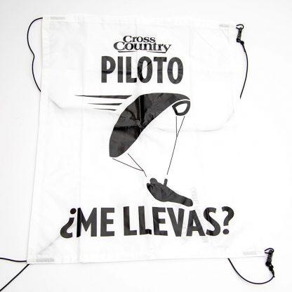 Cartel de recogidas para pilotos de parapente