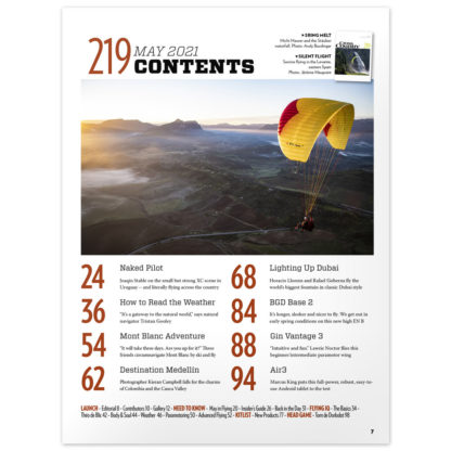 Cross Country Magazine issue 219 contents