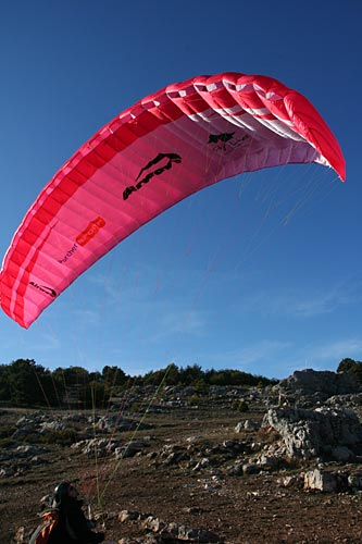 Airwave's new lightweight paraglider, the Himalaya