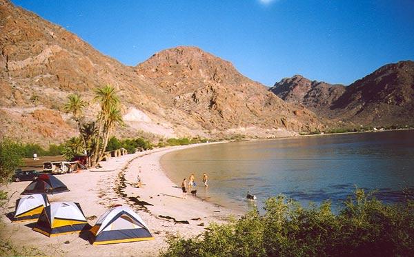 Camping in Baja California, Mexico