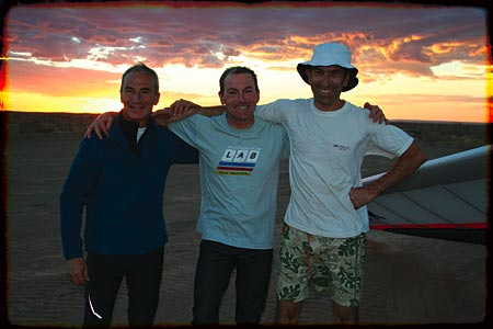 Carlos Punet, Patrick Chopard, Gil Souviron the day we did 403km