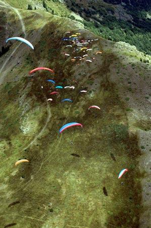 Paragliding in Sopot, Bulgaria