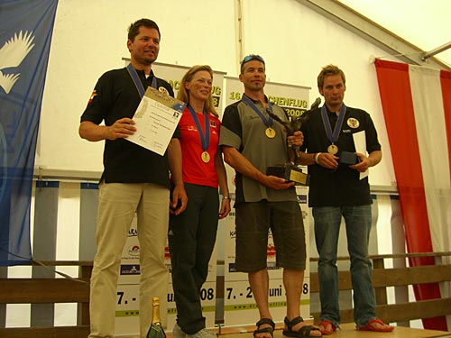 Europeans 2008 podium