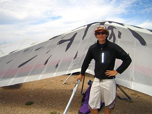 Spanish hang gliding star Blay Olmos