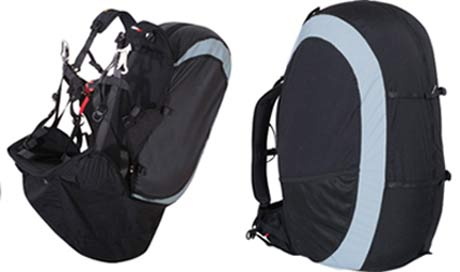 UP Alpine reversible paragliding harness