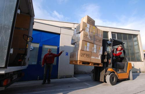 Wolfi Lechner becomes a fork lift driver as Nova relocates to Terfens