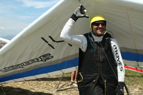 Attila Bertok, hang glider pilot and 2007 World Champion. Photo: Ed Ewing