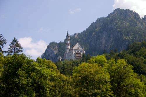Neuschwanstein Castle and the Tegelberg, home of the Hang Gliding World Championships 2010. Photo: C King