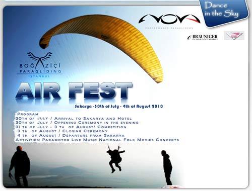 Bogazici Air festival Turkey 2010 poster