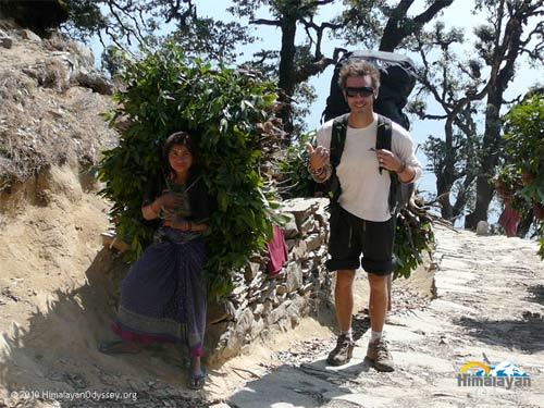 Himalayan Odyssey: Antoine Laurens enjpying a bivouac trek
