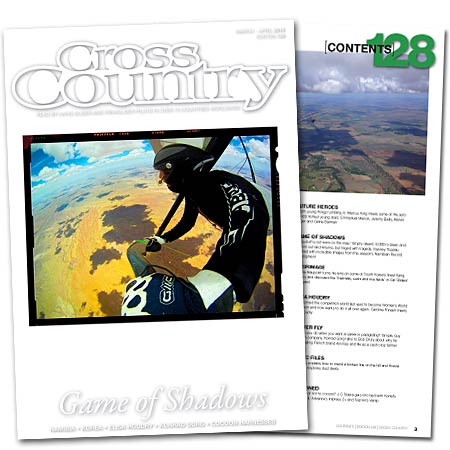 Vianney Tisseau's stunning photographs from Namibia feature in issue 128 of Cross Country magazine