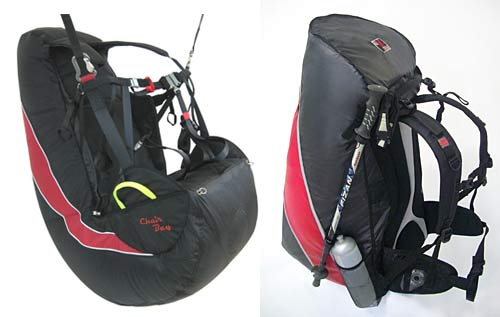 APCO Chairbag Integral II reversible paraglider harness