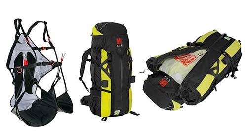 Gin Yeti harness and technical mountaineering rucksack