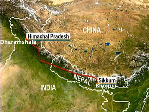 Himalayan Odyssey route map