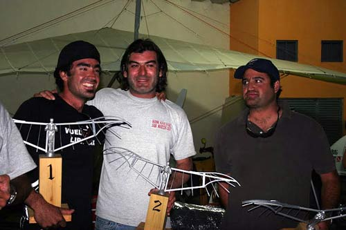 Mexican hang gliding Nationals 2010 winners' podium