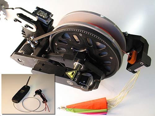 The Skynch, a one-man winch for hang glider and paraglider pilots to launch themselves