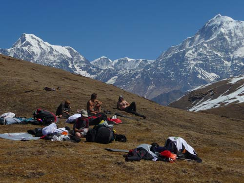 The team waiting to launch on the HImalayan Odyssey
