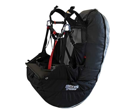 Icaro Paragliders' new reversible paragliding harness, the Energy Cross