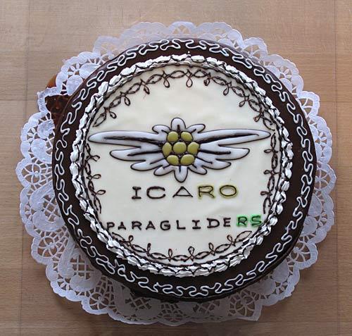 Icaro Paragliders birthday cake