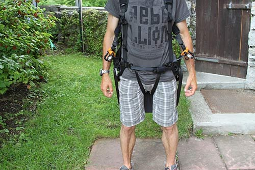 Picture 1: A common harness with Get-Up System correctly locked.