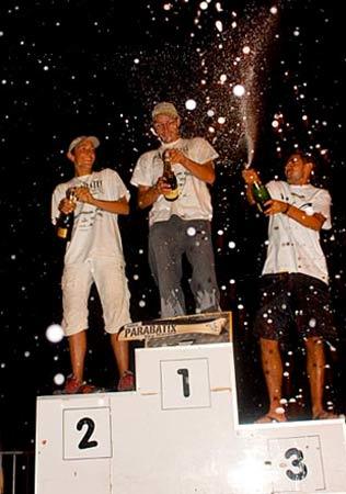 The first ever Parabatix podium, 2010