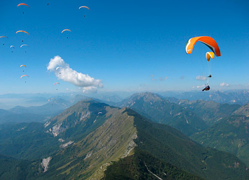 Paragliding competition in Slovenia