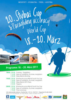 Paragliding Stubai Cup and Testival 2011 poster
