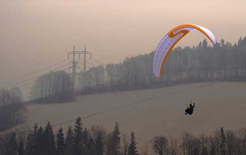 Winter testing of Sky Paragliders' Eos comp wing