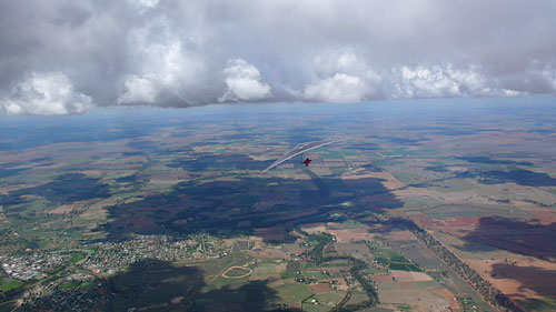 World class hang gliding in Forbes, Australia