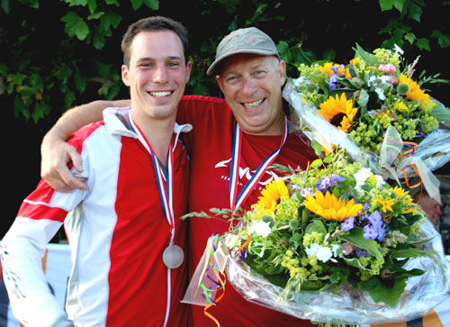 Dutch masters ... Chavert and Hans ter Maat, father and son paragliding champions