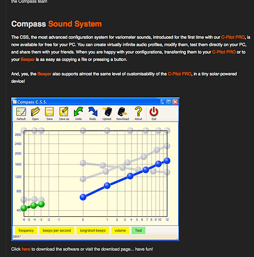 Compass instruments sound system diagram for Beeper vario