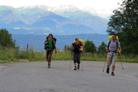 Summiting the Col de Marocaz