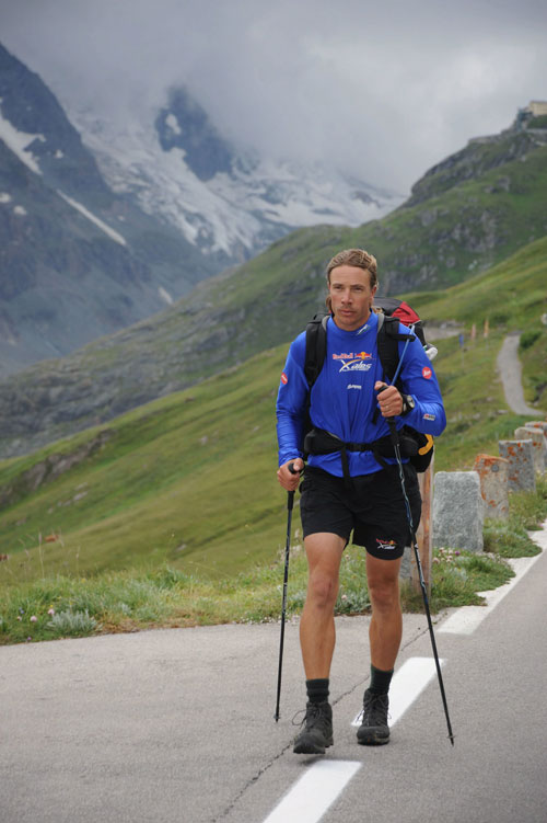 Honza Rejmanek on the road on 19 July 2011. Photo: Red Bull X-Alps