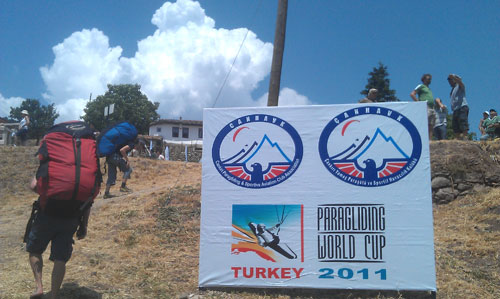 Big clouds at the Paragliding World Cup in Turkey. Photo: Craig Morgan