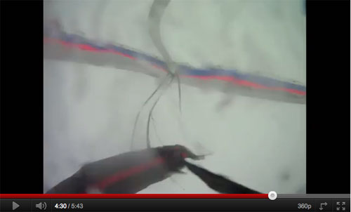 After being in the cloud for several minutes the hang glider pilot struggles to maintain control and decides to throw his reserve