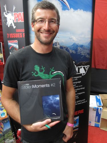 Photographer Jerome Maupoint with his new book, launched at St Hilaire