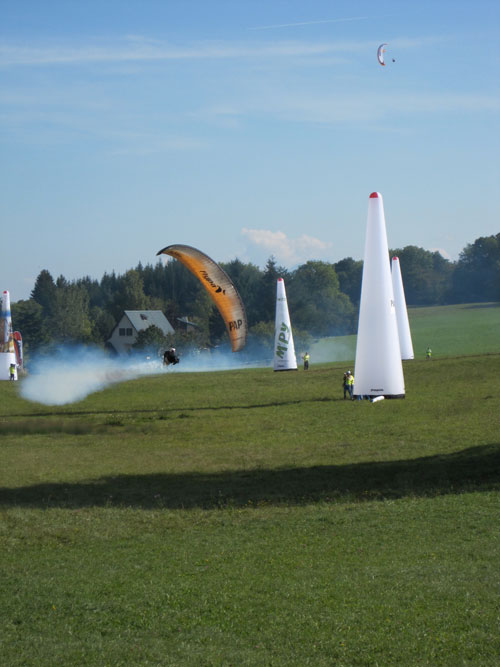 Parabatix at 11am in the paramotor field at St Hilaire