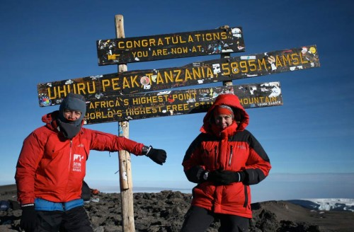 Happy to be on the summit of Kilimanjaro, 16 September 2011.