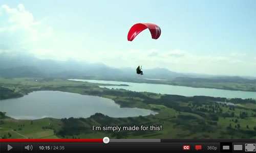 Lena Kruckenberg learning to paraglide