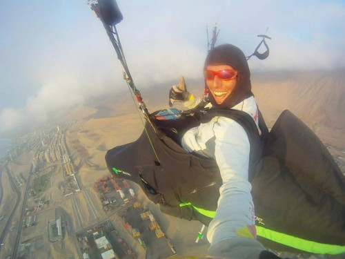 Pal Takats has been making some long flights in Chile. On 5 December he broke 300km, and looks very happy about it!