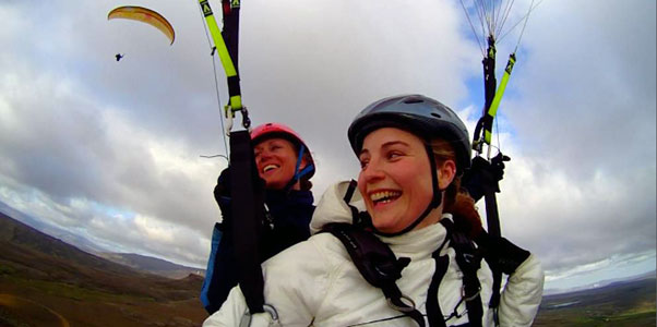 The Flying Effect go tandem in Iceland. Photo: www.facebook.com/theflyingeffect