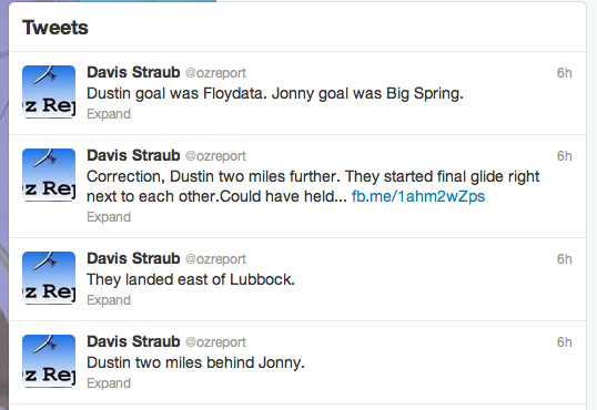 Davis Straub Tweets for the Oz Report