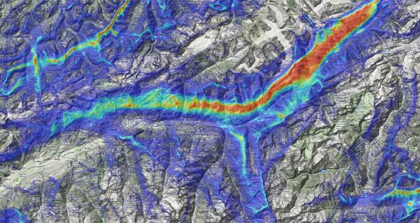 The XC Highways around Fiesch in Switzerland