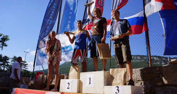 Podium at the Istria Paragliding Open 2012. Photo: Primoz Susa