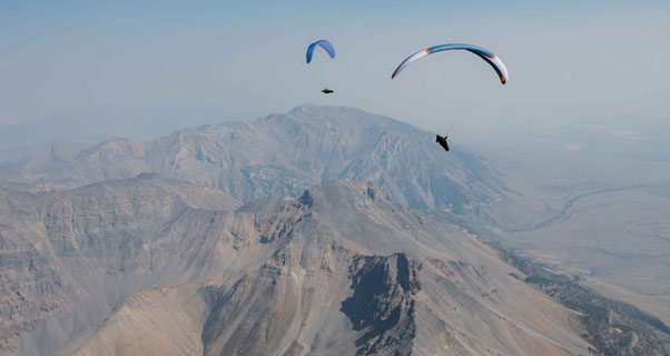 Competition gliders at the PWC in Sun Valley, Idaho. Photo: Nick Greece